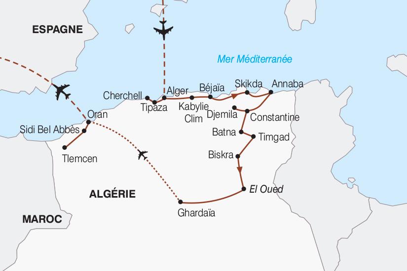 carte Algerie Le Grand Tour d Algerie de Bab el Oued au Sahara 2018_267 529976