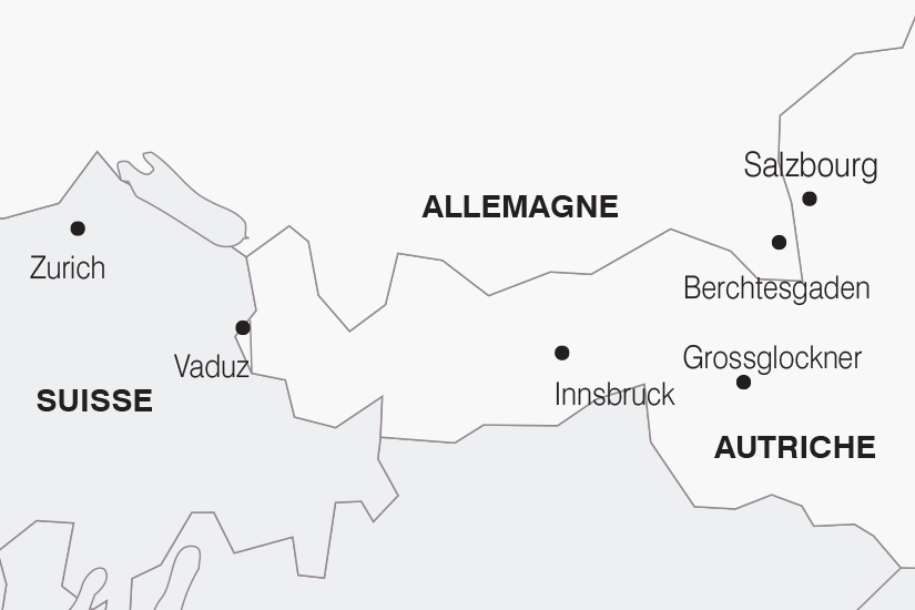 carte Allemagne Autriche Le Tyrol Autrichien SH19 20_319 634912