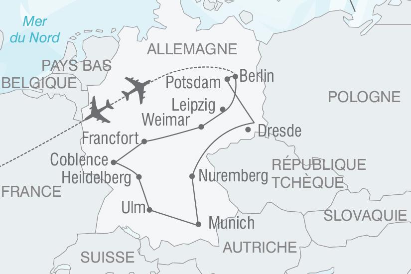 carte Allemagne De Munich a Berlin nt 2019_293 414566