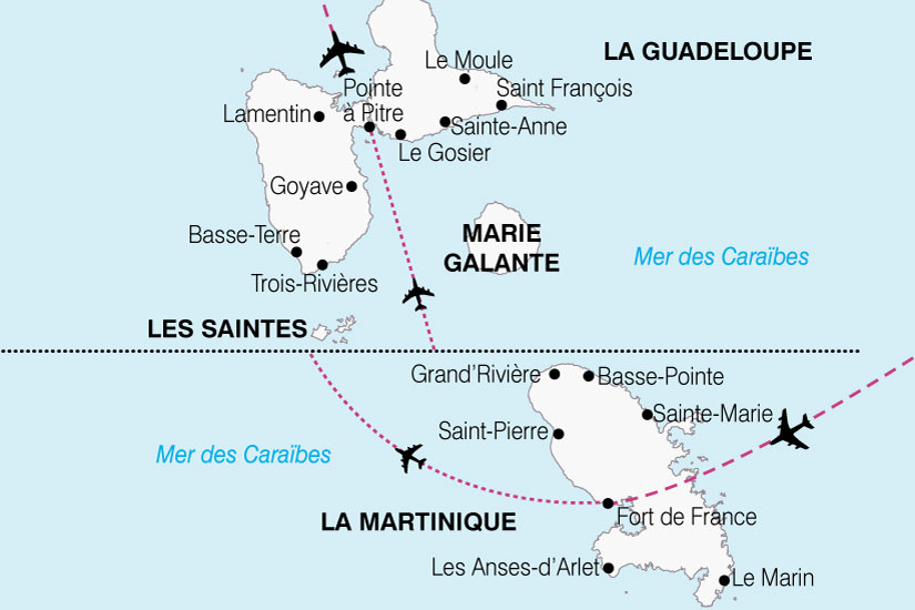 carte Antilles Caraibe Francaise 802996