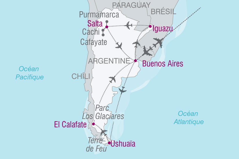 carte Argentine Altiplano Patagonie 299554