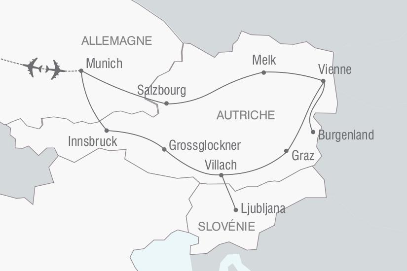 carte Autriche Le Grand Circuit d Autriche nt 2018_261 629115