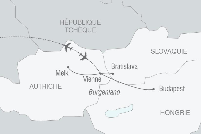 carte Autriche Slovaquie Hongrie Vienne et la vallee du Danube NT19 20_314 128854