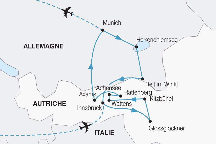 carte Autriche Tresors de la Baviere et du Tyrol SH20_339 878692
