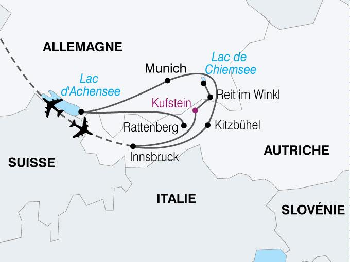 carte Autriche Tyrol Baviere  nthiver 470477
