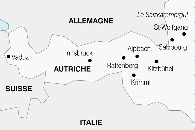carte Autriche Tyrol en Fete 381995