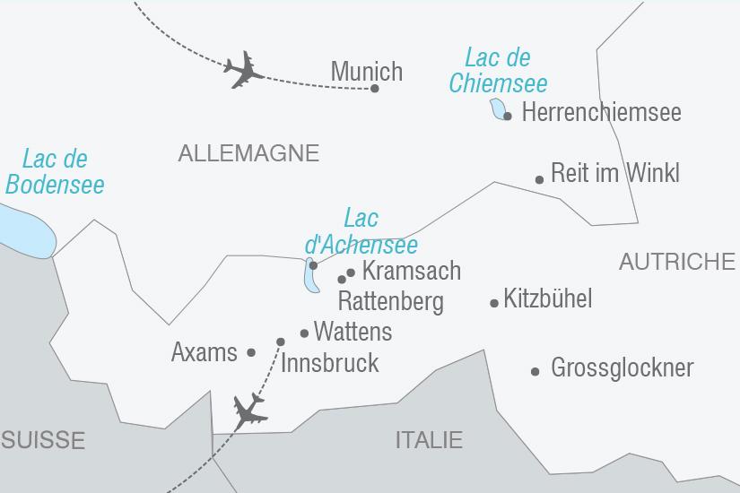 carte Autriche Tyrol et Baviere NT20_341 769278