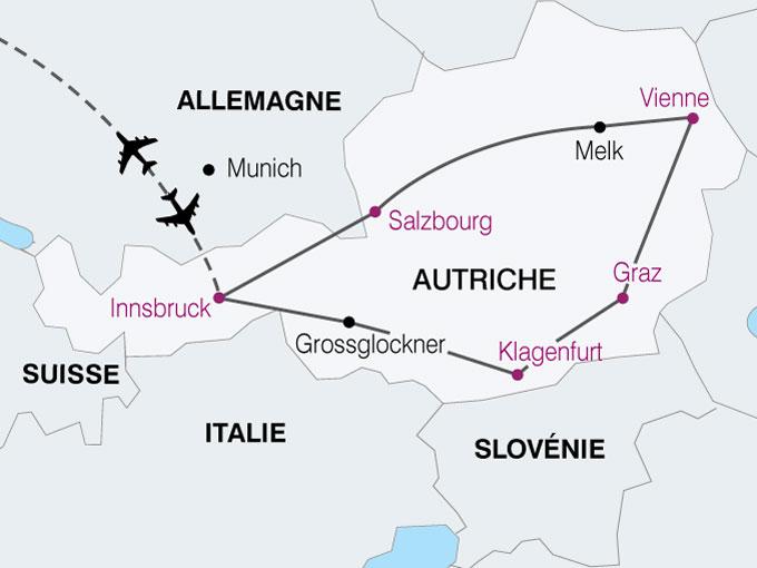 carte Autriche tresors autriche  nthiver 801506