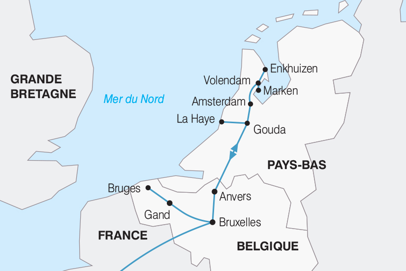 carte Belgique La Belgique et la Hollande le coeur de l Europe 2018_267 801778