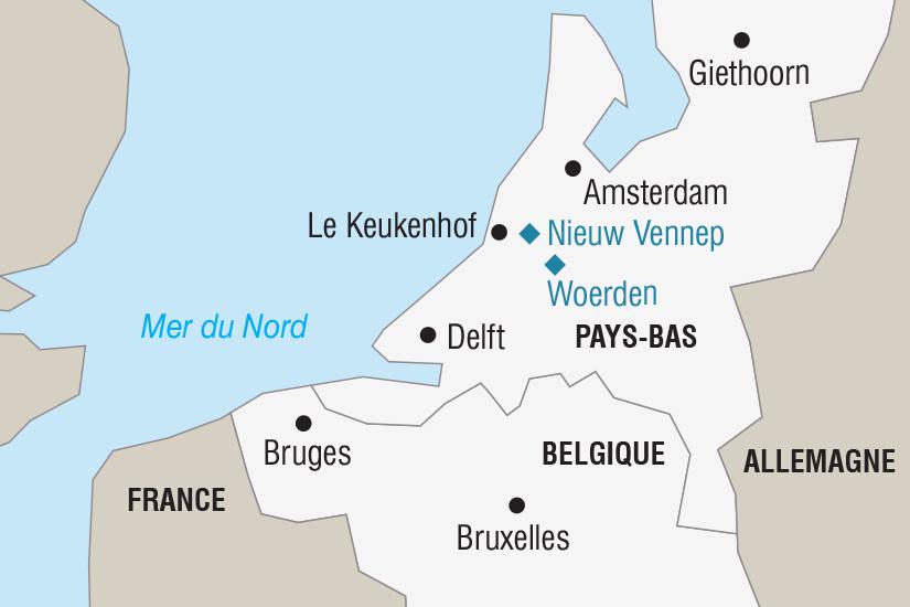 carte Belgique Pays Bas Le Corso fleuri aux Pays Bas_306 129857