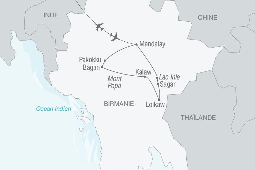 carte Birmanie Au coeur de la Birmanie nt 2019_293 179002