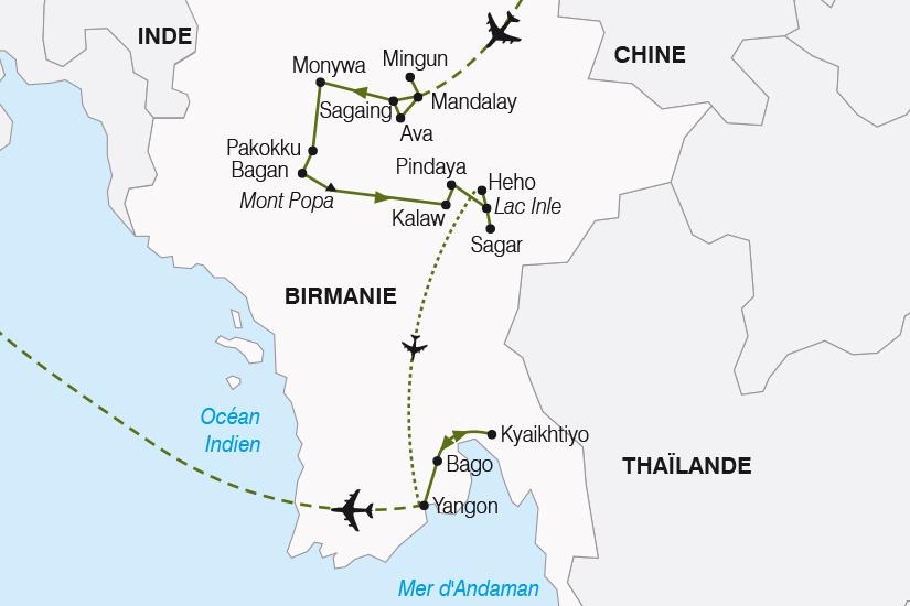 carte Birmanie Myanmar Tresors Birmans SH20_339 558482