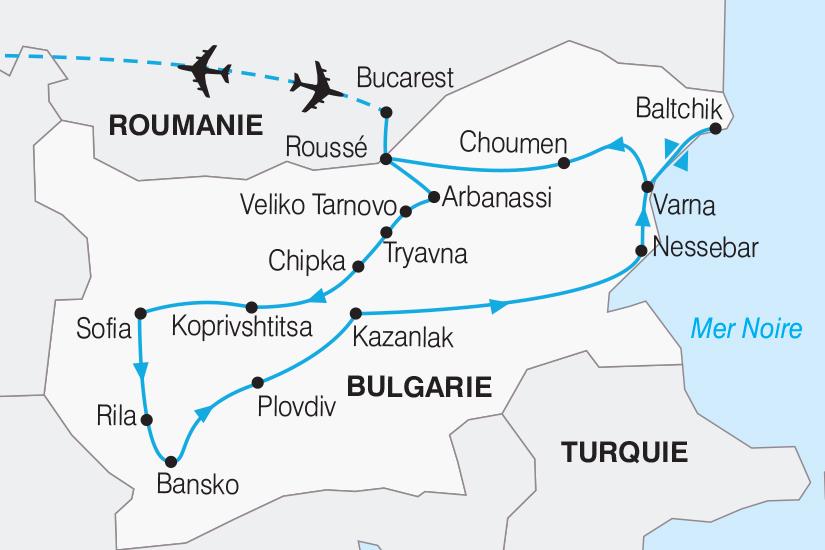 carte Bulgarie La Bulgarie Balkan et mer Noire_267 481681