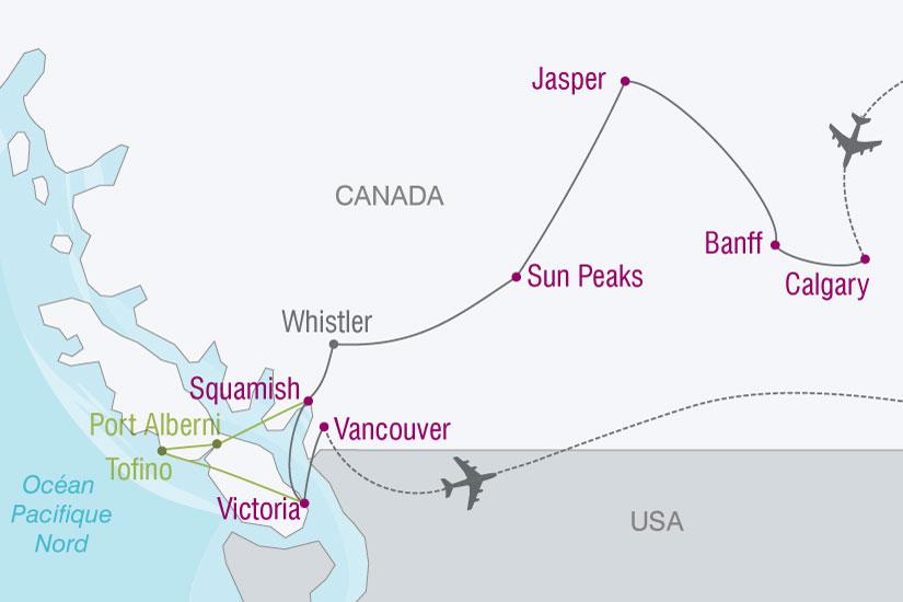 carte Canada Ouest canadien 872522