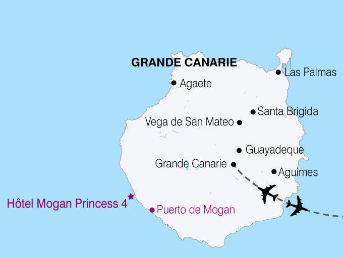 carte Canaries Grande Canarie  nthiver 102155