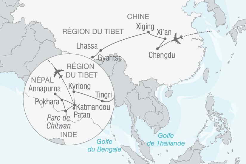 carte Chine Nepal Du Tibet au Nepal voyage sur le toit du monde nt 2019_293 358605
