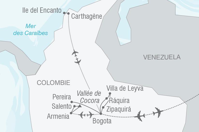 carte Colombie Tresors de Colombie NT20_341 781491
