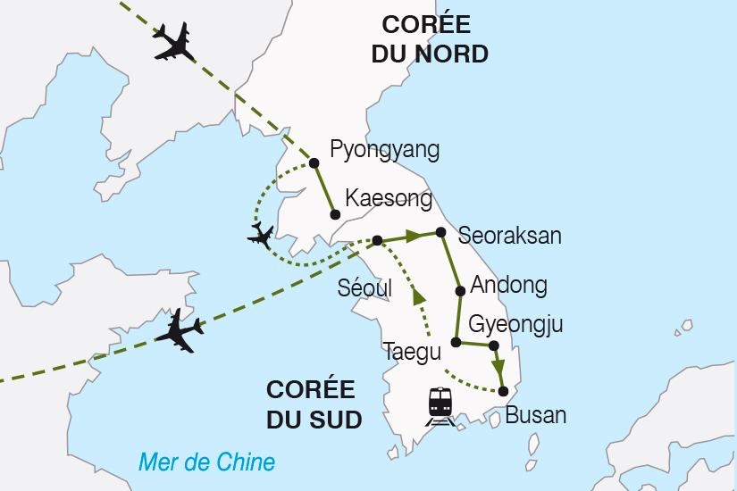 carte Coree Les Deux Coree de chaque cote du Rideau de Bambou SH19 20_319 209648