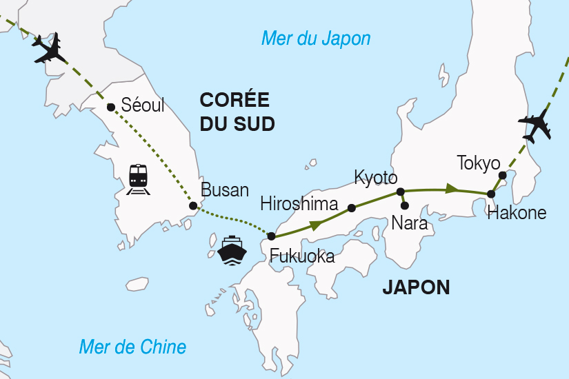 carte Coree du Sud et Japon SH19 20_319 808686