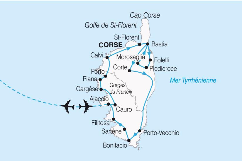 carte Corse Les merveilles de l ile de Beaute SH19 20_319 872192