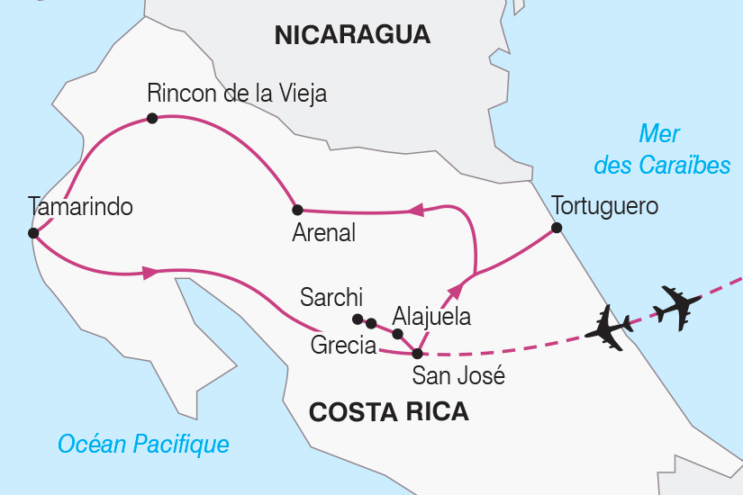 carte Costa Rica entre volcans et oceans SH19 20_319 738092