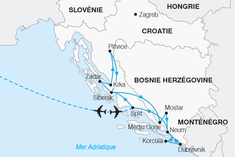carte Croatie Joyau de l Adriatique SH20_339 842243