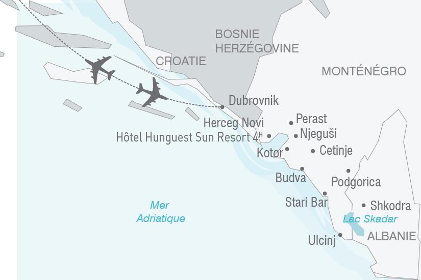 carte Croatie Montenegro Albanie Entre Orient et Occident NT20_341 433781