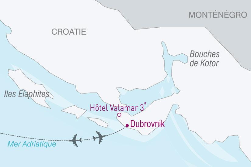 carte Croatie Valamar Dubrovnik 258731