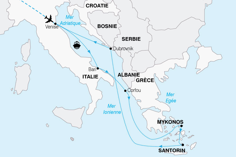 carte Croisiere Adriatique Grecques 757246