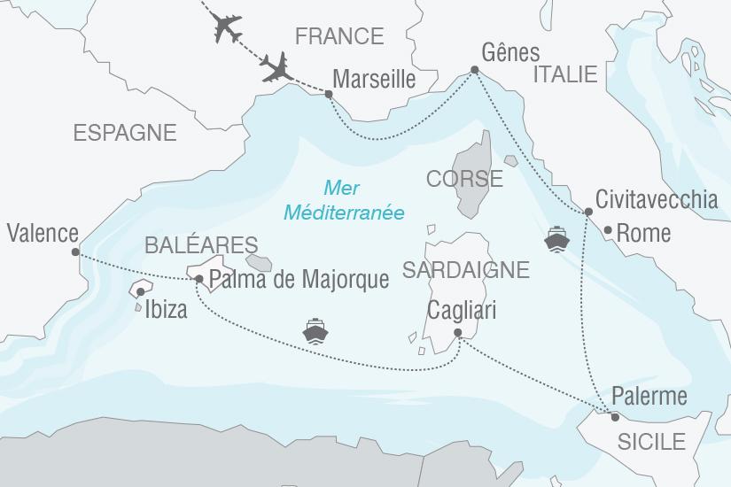 carte Croisiere Couleur et culture mediterraneennes NT20_341 178439