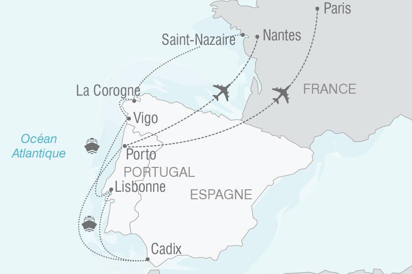 carte Croisiere Espagne Portugal Bom dia Portugal NT19 20_314 355807