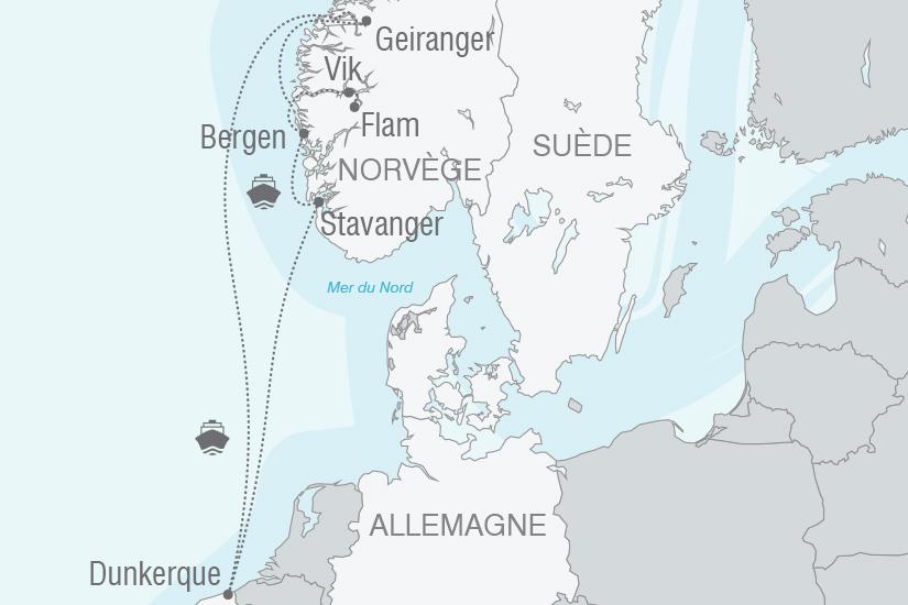 carte Croisiere Norvege Au coeur des fjords norvegiens NT19 20_314 137495