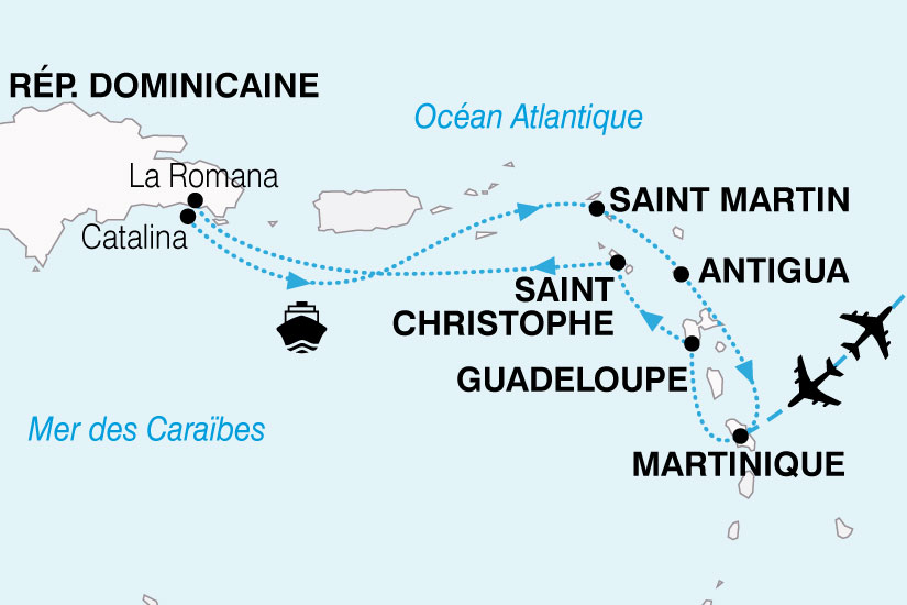 carte Croisiere Perles Antilles 266220