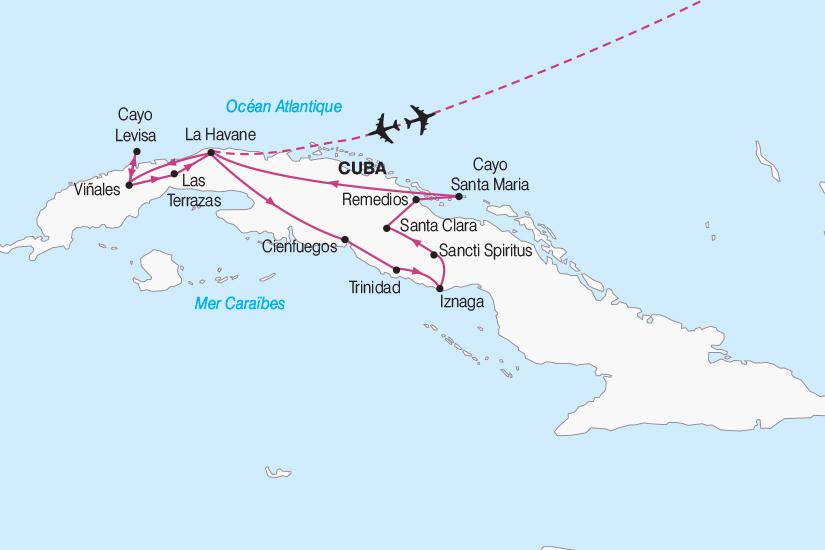 carte Cuba Cuba Charme des Caraibes 2018_267 868557