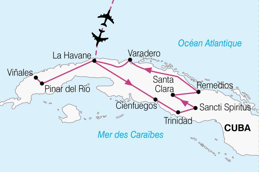 carte Cuba Escapade Cuba 762827