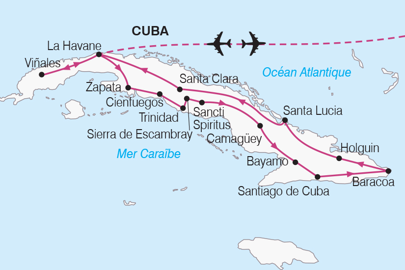 carte Cuba Le Grand Tour de Cuba de la Havane a Santiago SH19 20_319 586388