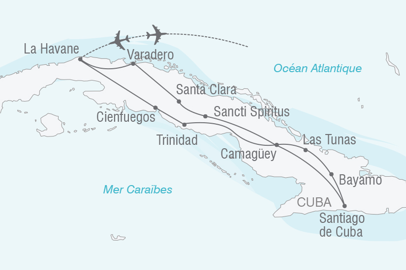 carte Cuba sur les traces du Che NT20_341 777962