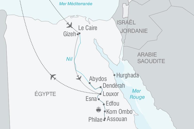 carte Egypte Le Caire et la fabuleuse vallee du Nil nt 2019_293 646579