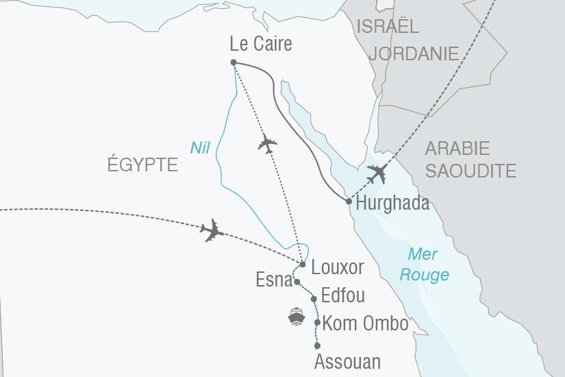carte Egypte Le Nil la Mer Rouge et Le Caire NT19 20_314 729348