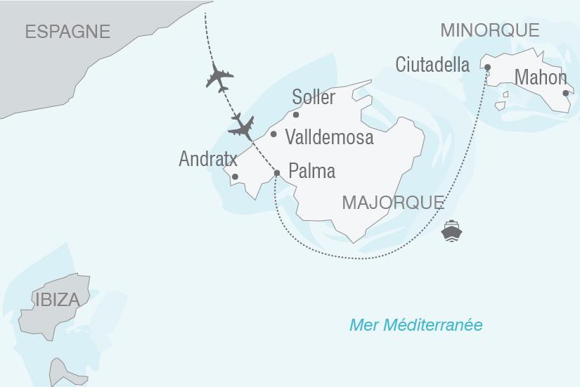 carte Espagne Baleares Majorque et Minorque NT20_341 418763