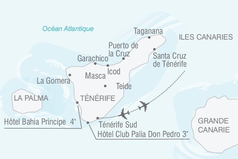 carte Espagne Canaries Couleurs de Tenerife nt 2019_293 473131