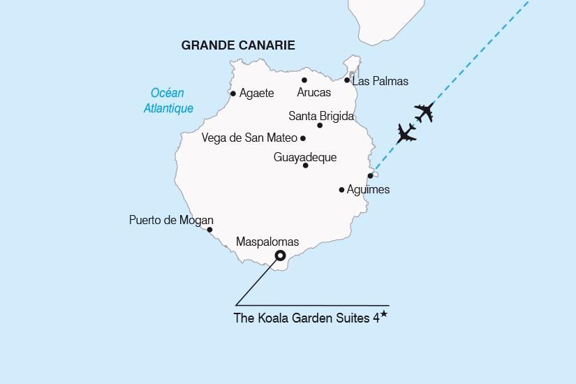carte Espagne Canaries Escapade a Grande Canarie SH20_339 326941