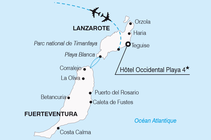 carte Espagne Canaries Sejour decouverte a Lanzarote SH20_339 470128