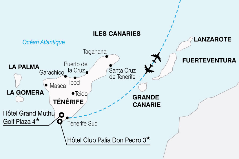 carte Espagne Canaries Visage Tenerife 401723