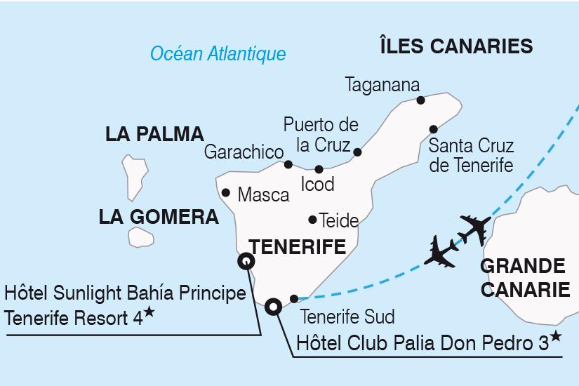carte Espagne Canaries Visages de Tenerife SH19 20_319 802100