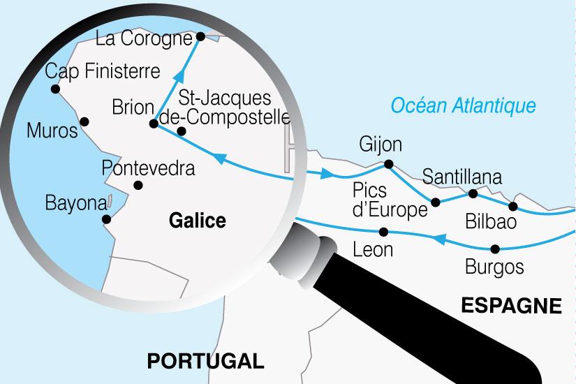 carte Espagne Chemins St Jacques 204313