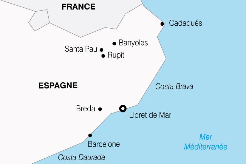 carte Espagne Costa Brava 497617