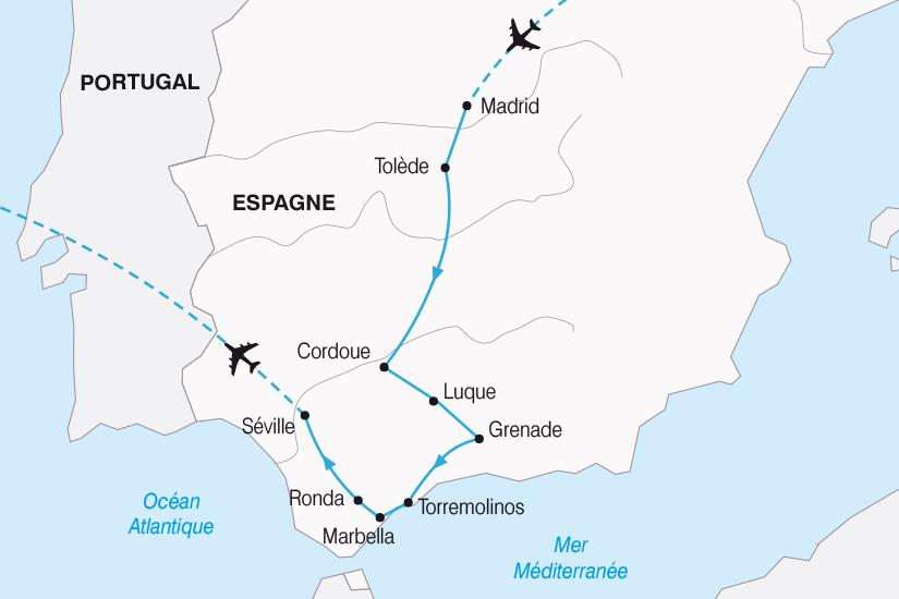 carte Espagne de la Castille a l Andalousie SH20_339 367714