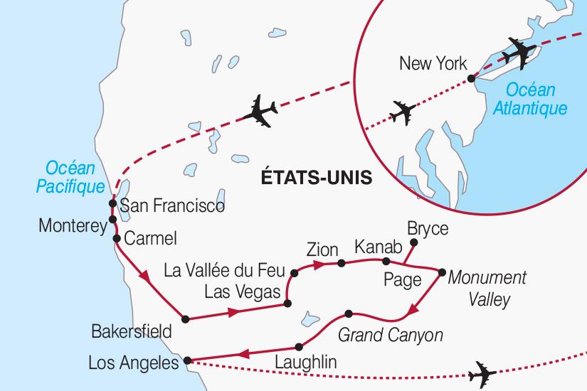 carte Etats Unis Californie et New York 2018_267 359344