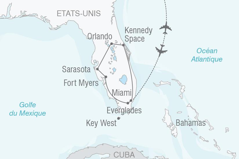 carte Etats Unis Entre Floride et les Keys NT20_341 694603